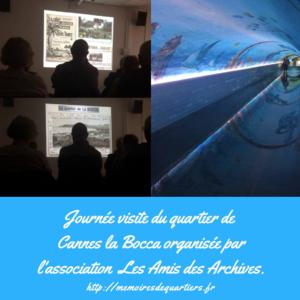 Visite du quartier de Cannes la Bocca par l'association Les Amis des Archives